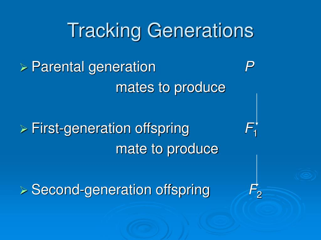 Tracking Generations