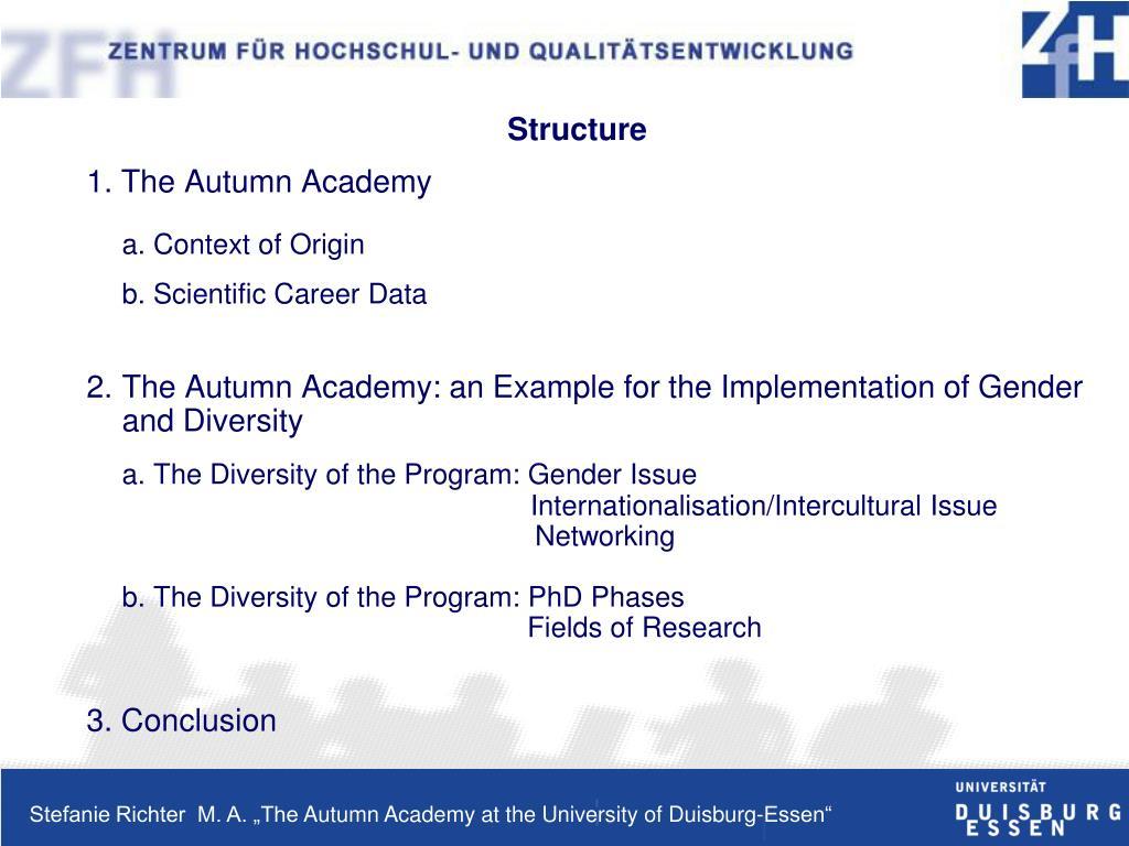 1. The Autumn Academy