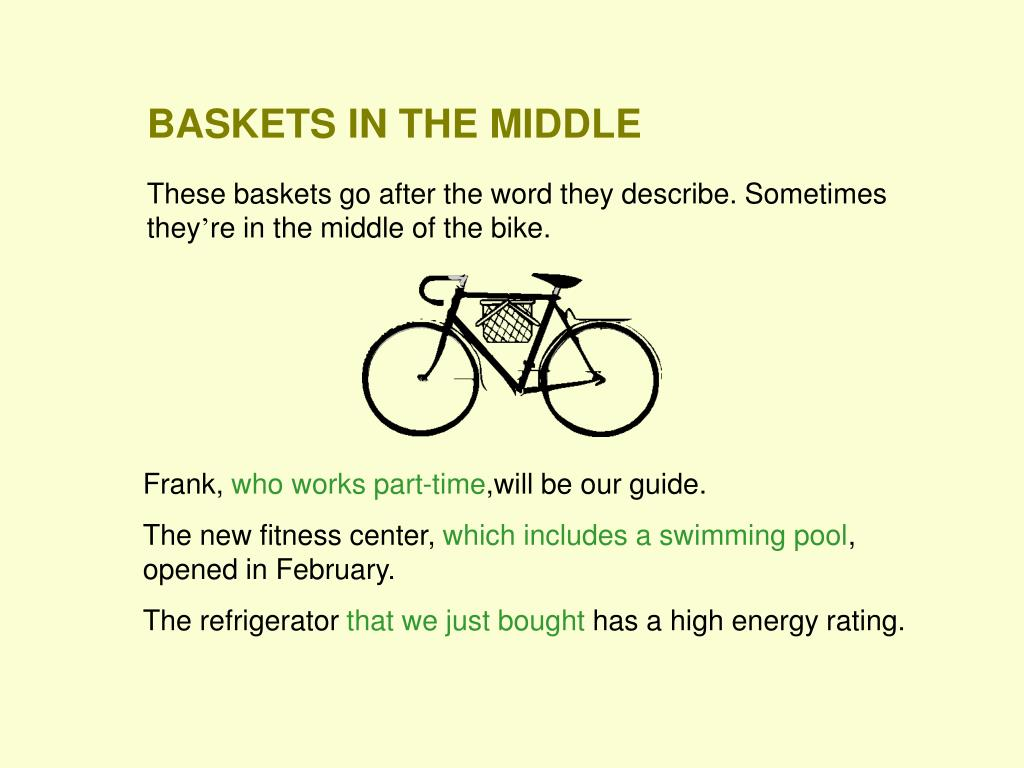 BASKETS IN THE MIDDLE