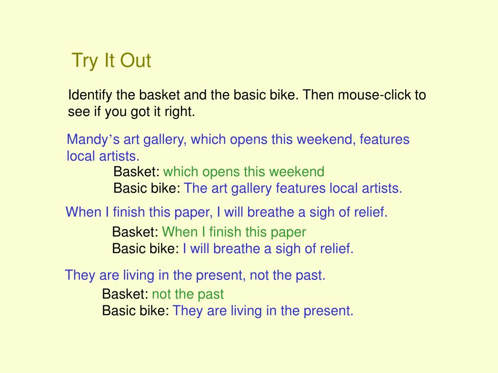 Try It Out
