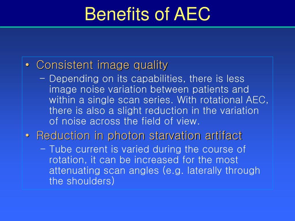 Benefits of AEC