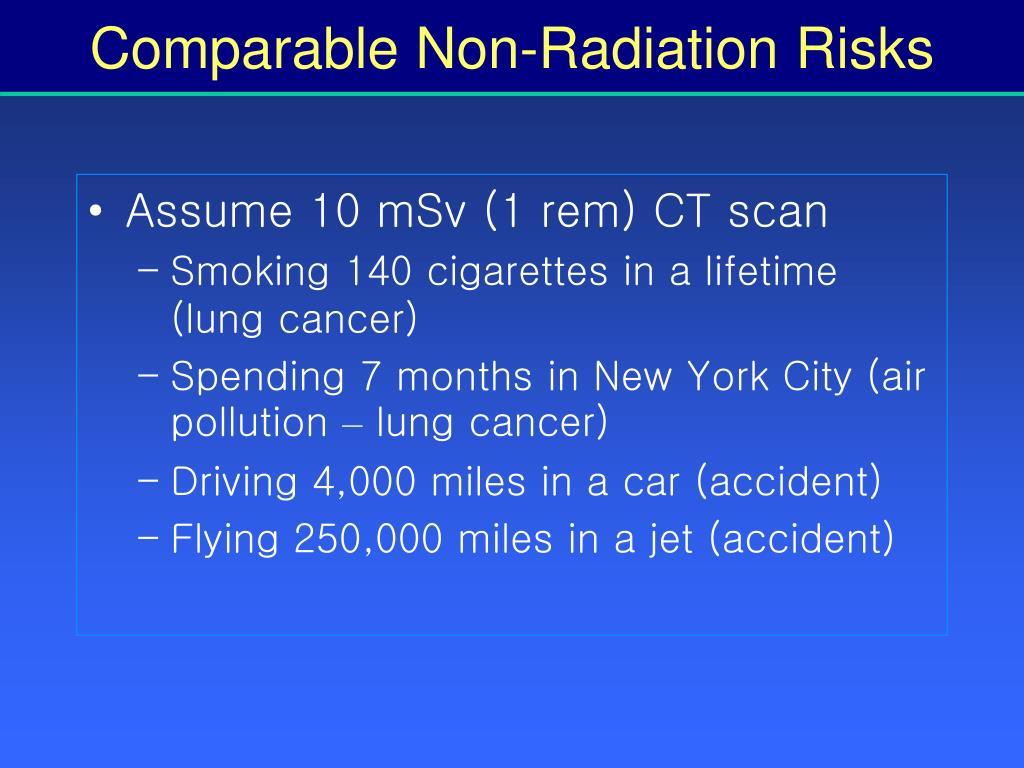 Comparable Non-Radiation Risks