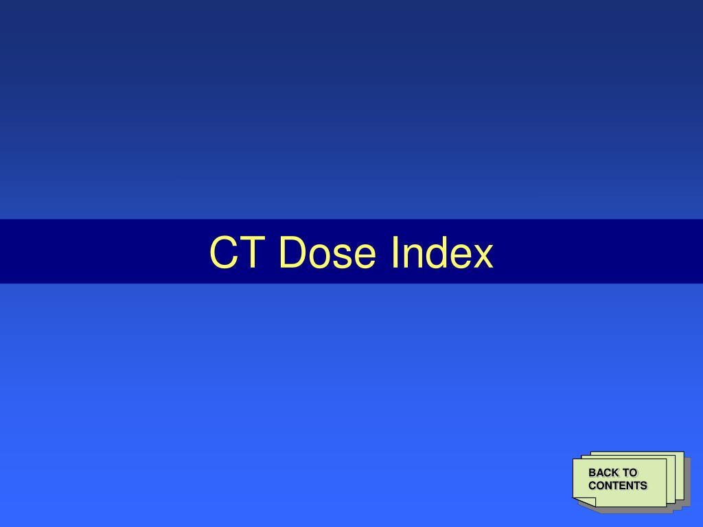 CT Dose Index