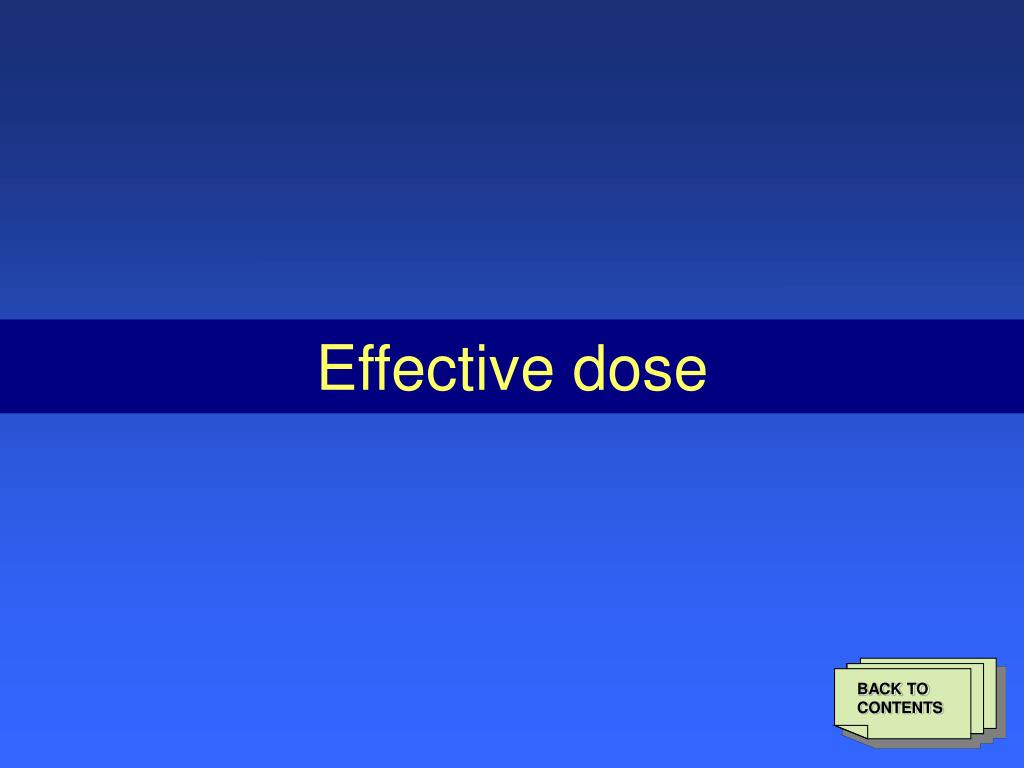Effective dose