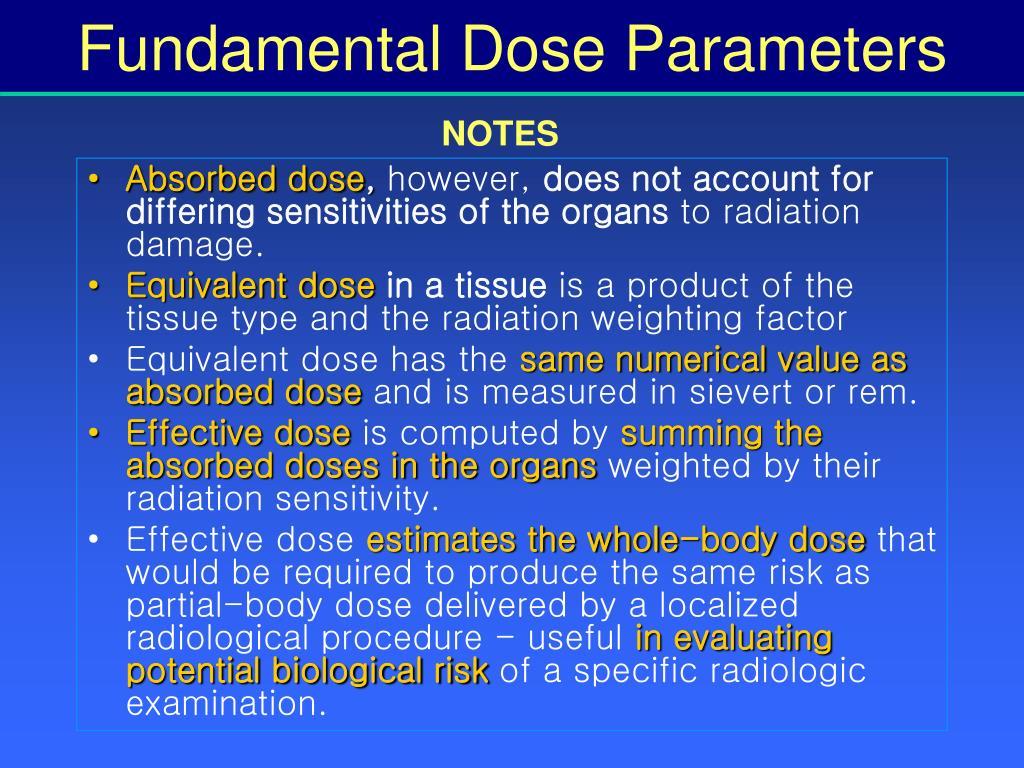 Fundamental Dose Parameters