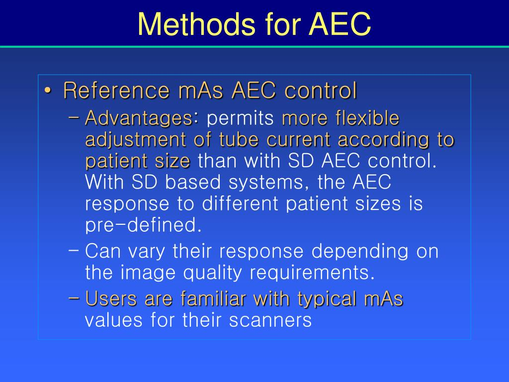 Methods for AEC