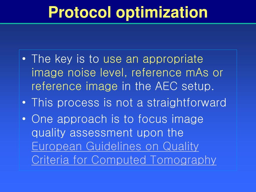 Protocol optimization