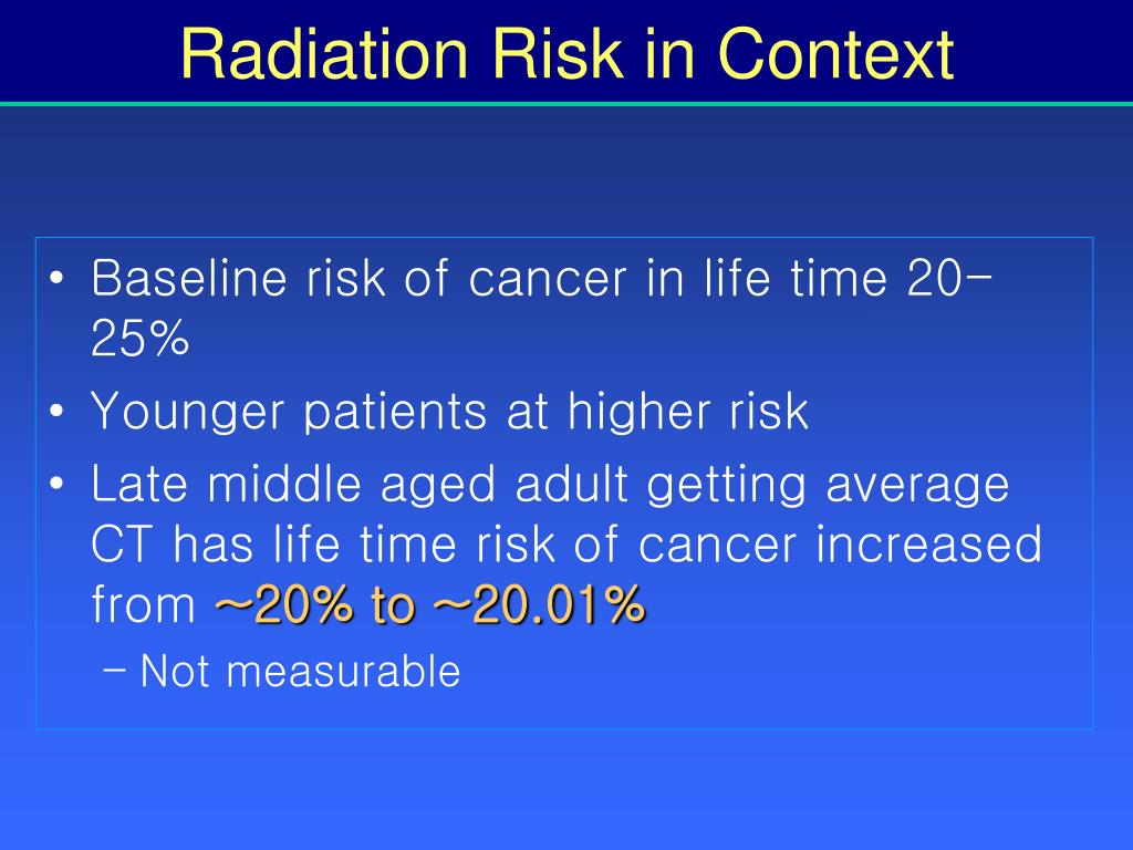 Radiation Risk in Context