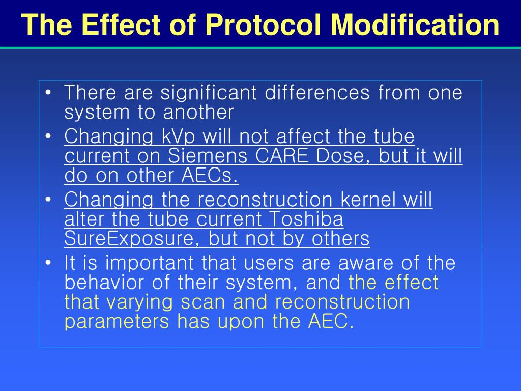 The Effect of Protocol Modification