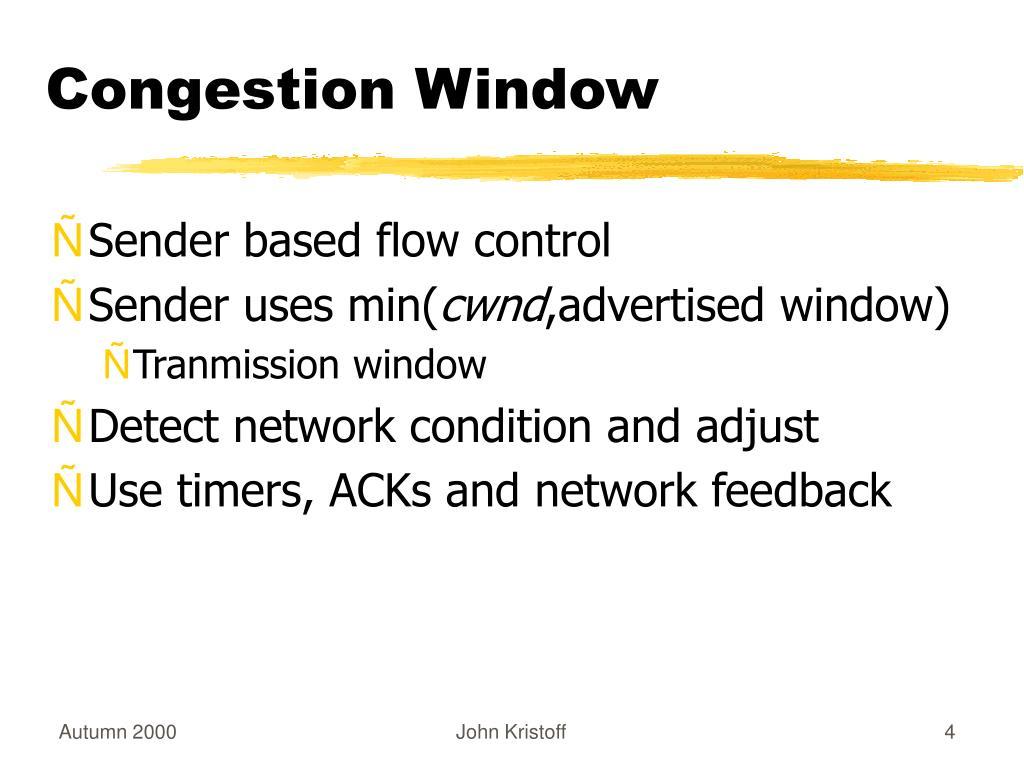 Congestion Window