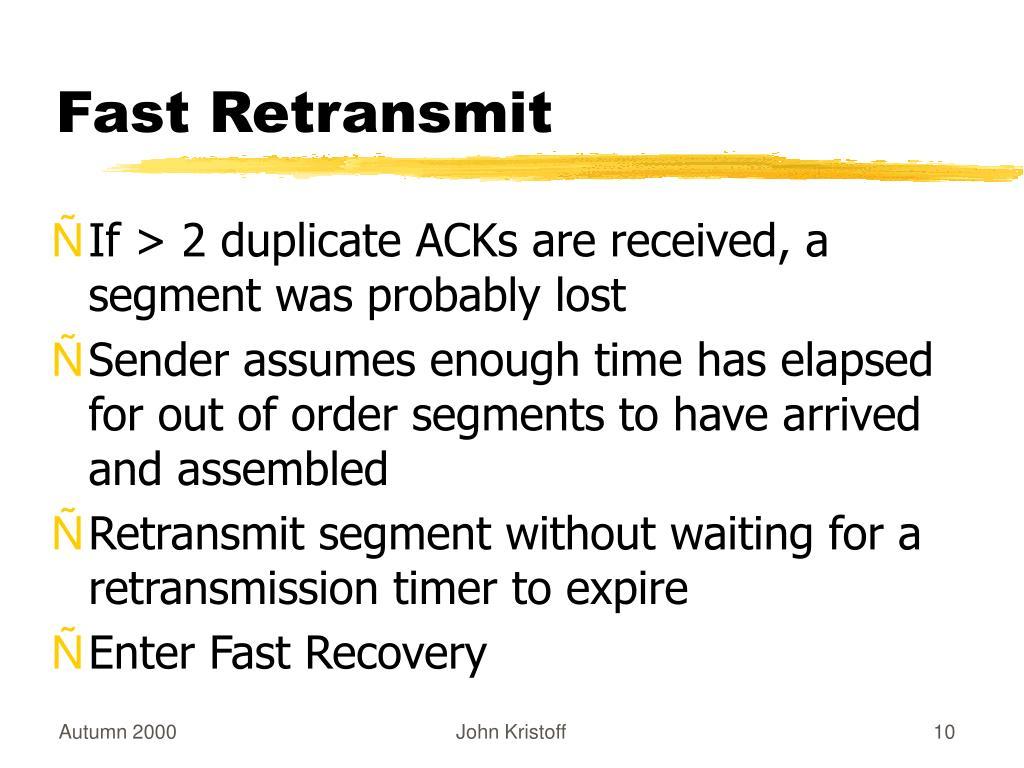 Fast Retransmit