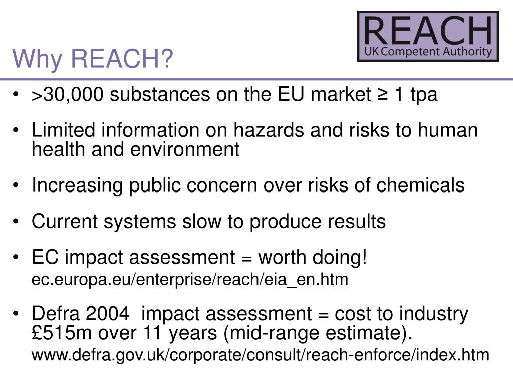 Why REACH?