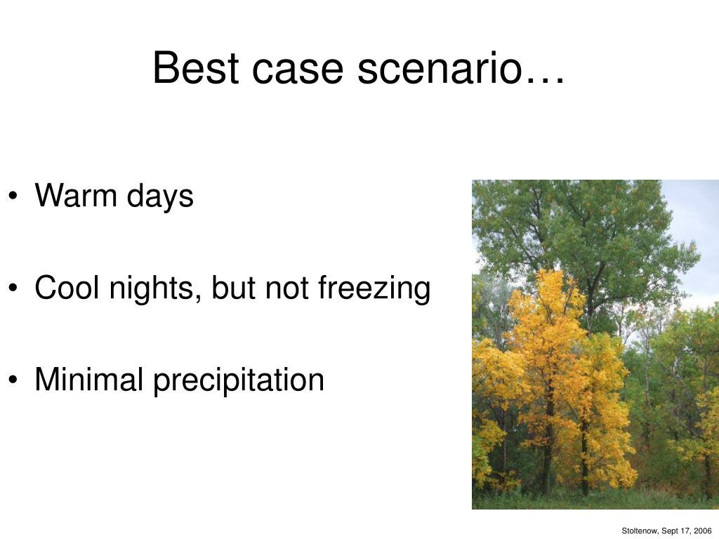 Best case scenario…