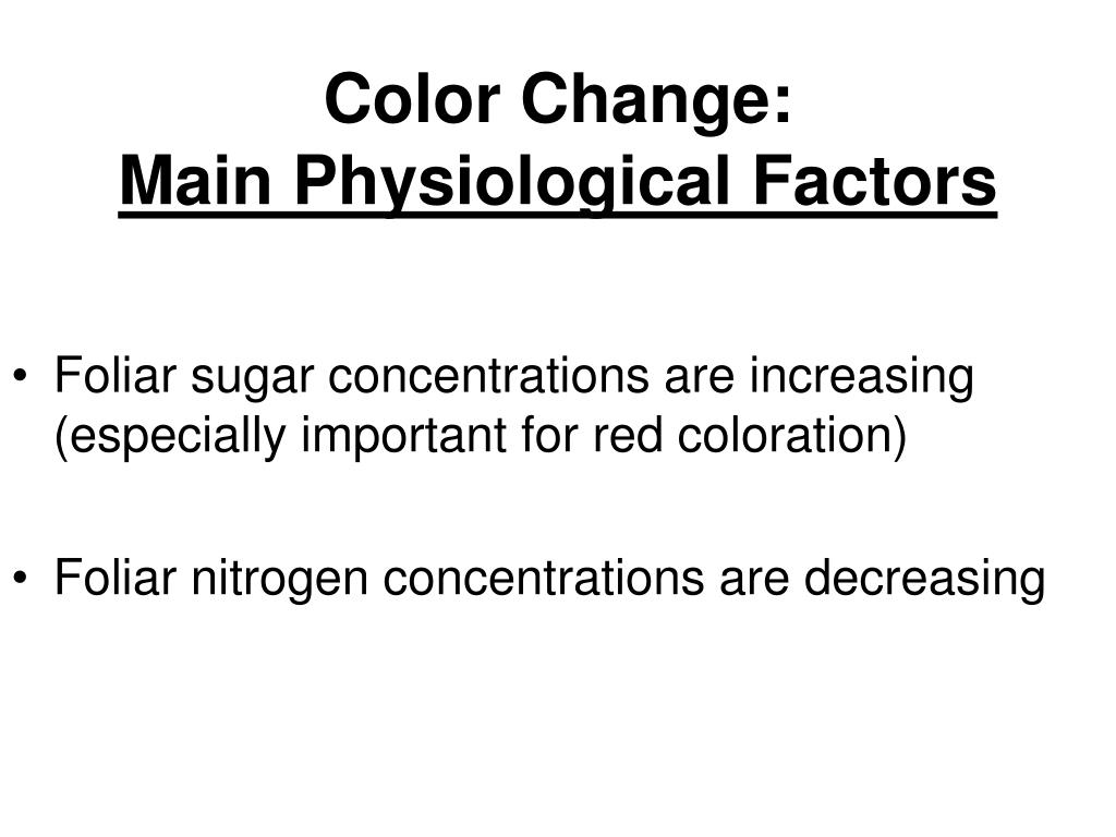 Color Change:
