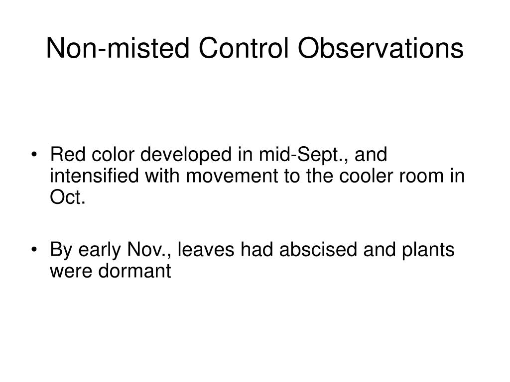Red color developed in mid-Sept., and intensified with movement to the cooler room in Oct.