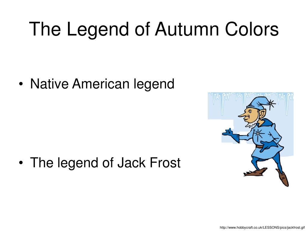 The Legend of Autumn Colors