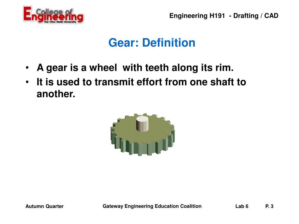 Gear: Definition