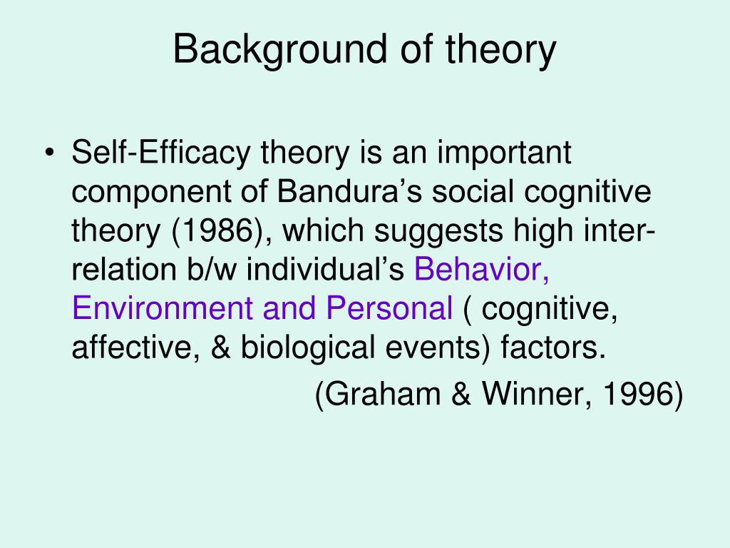 Background of theory