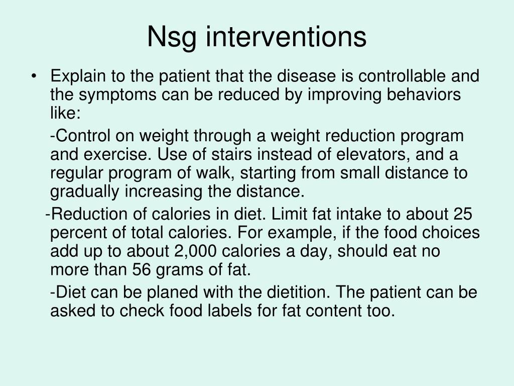 Nsg interventions