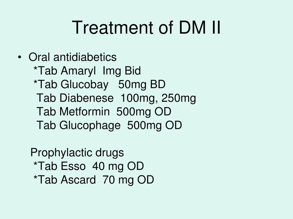 Treatment of DM II