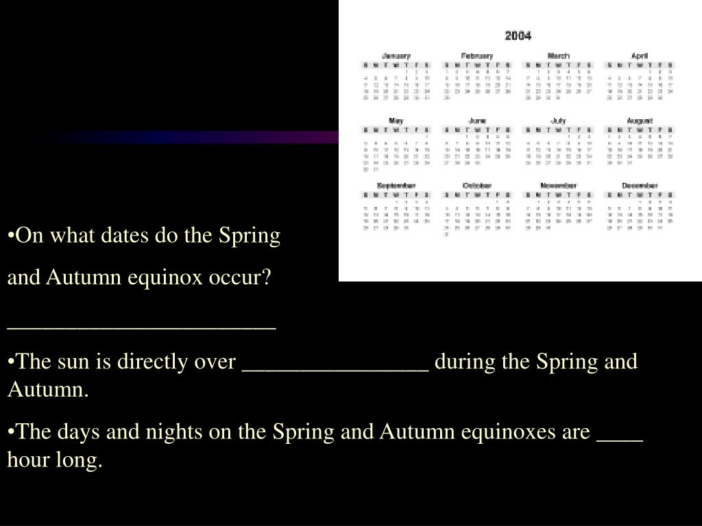 On what dates do the Spring