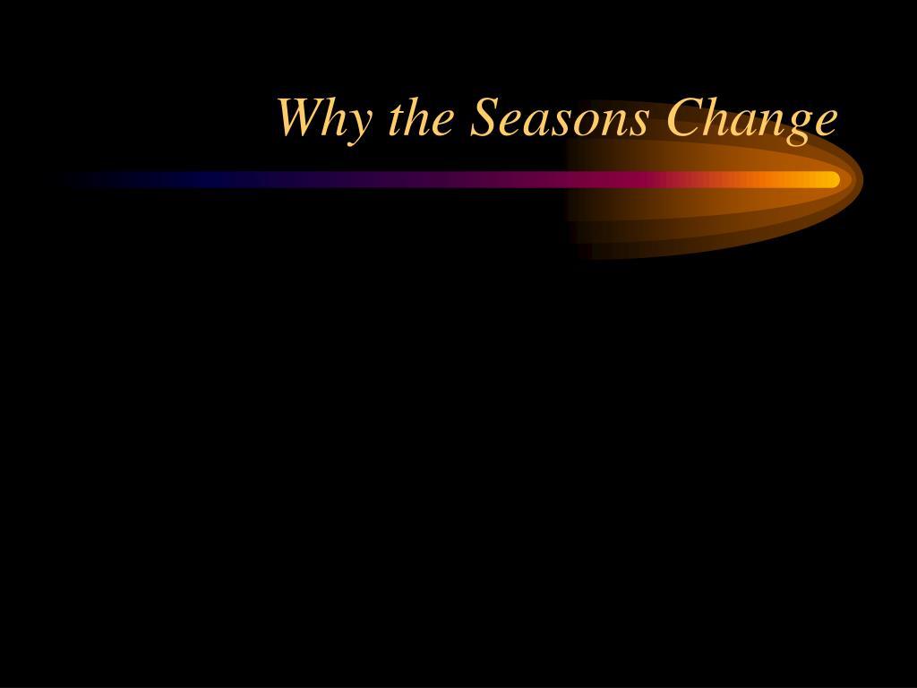 Why the Seasons Change