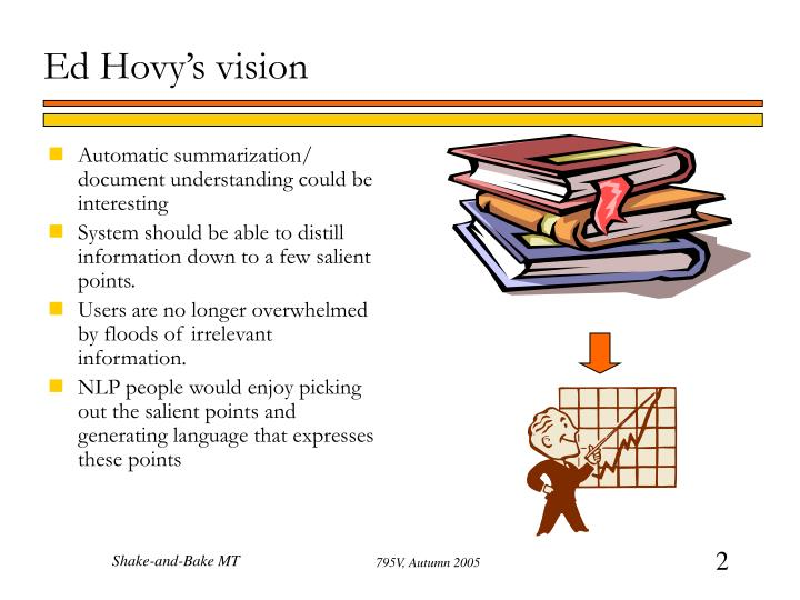 Ed hovy s vision