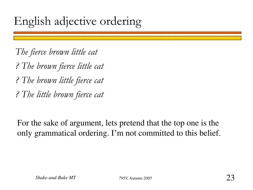 English adjective ordering