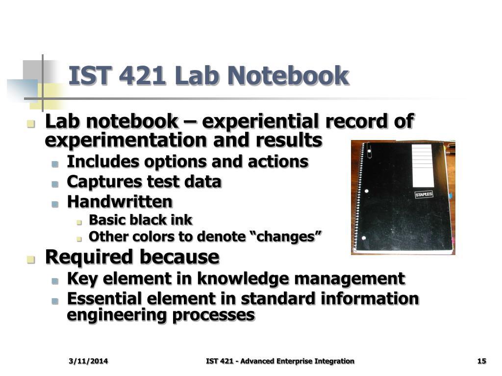IST 421 Lab Notebook