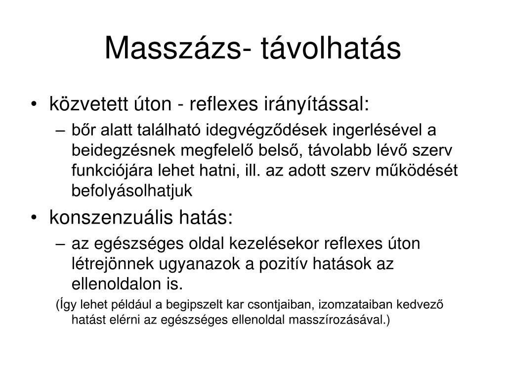 Masszázs- távolhatás