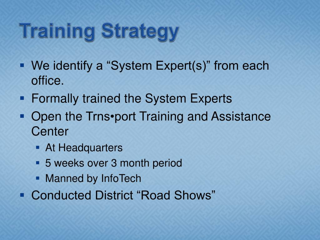 Training Strategy