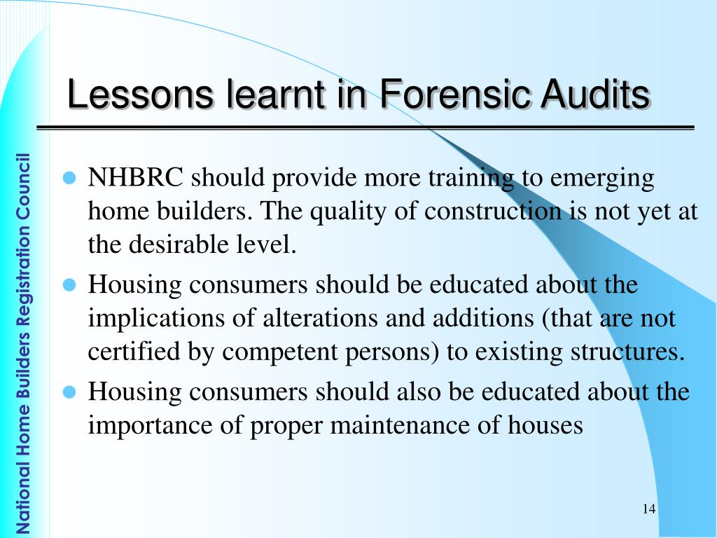 Lessons learnt in Forensic Audits