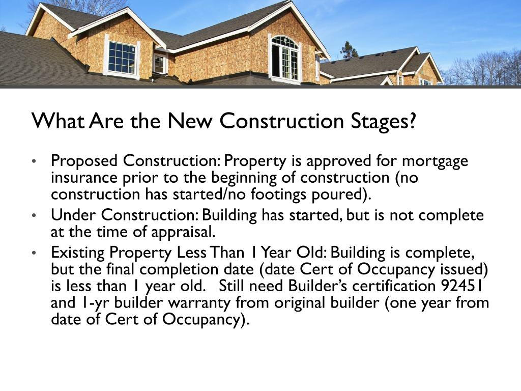 What Are the New Construction Stages?