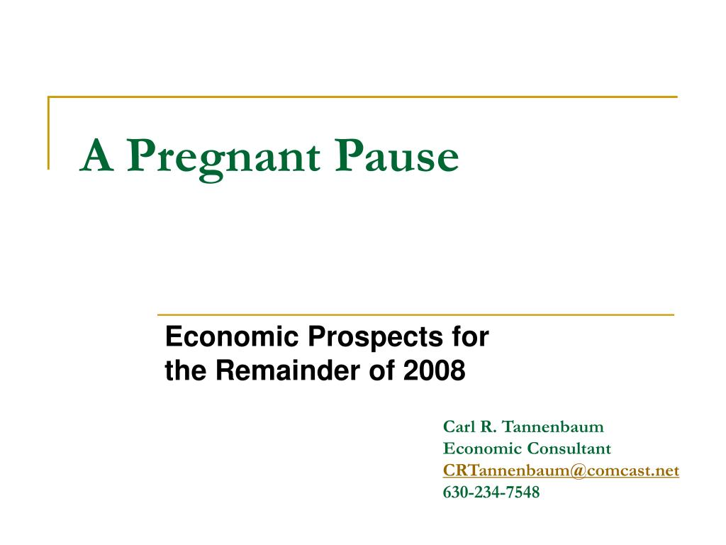 A Pregnant Pause