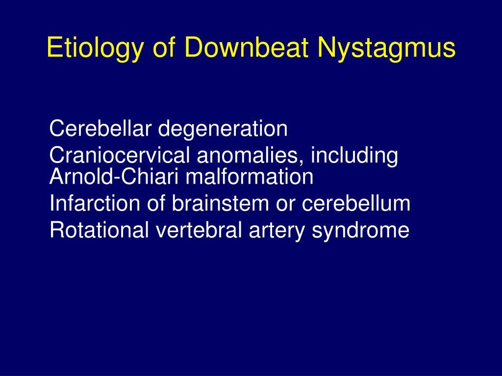 downbeat nystagmus vitamin b mangel