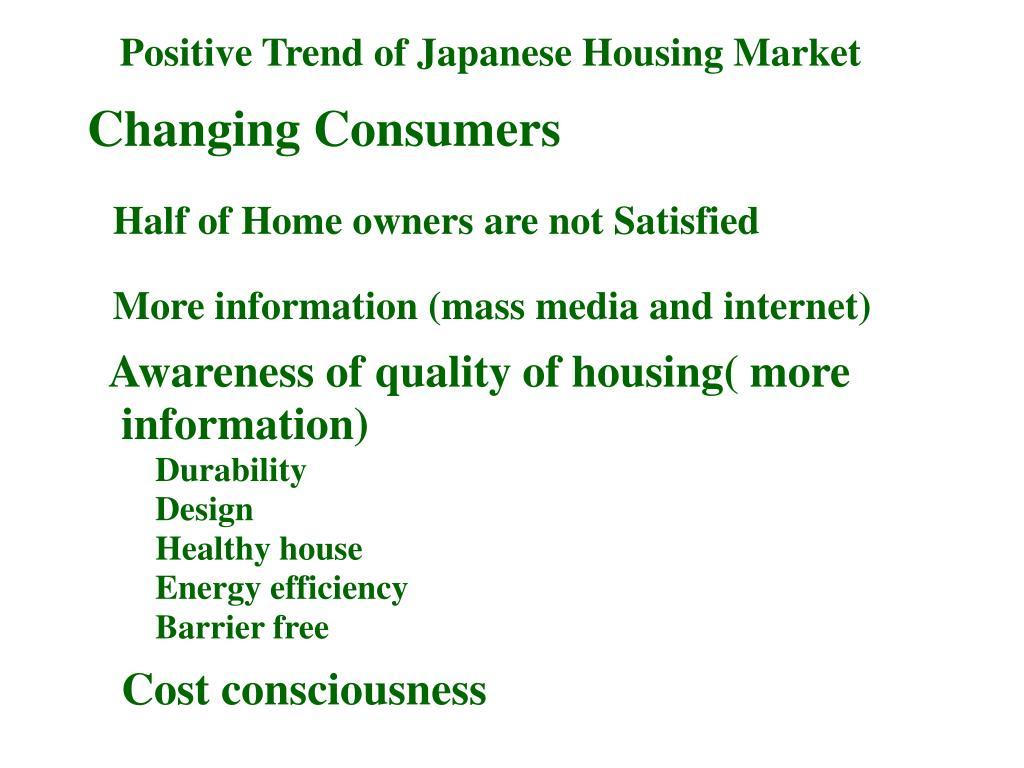 Positive Trend of Japanese Housing Market