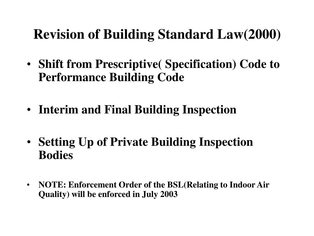 Revision of Building Standard Law(2000)