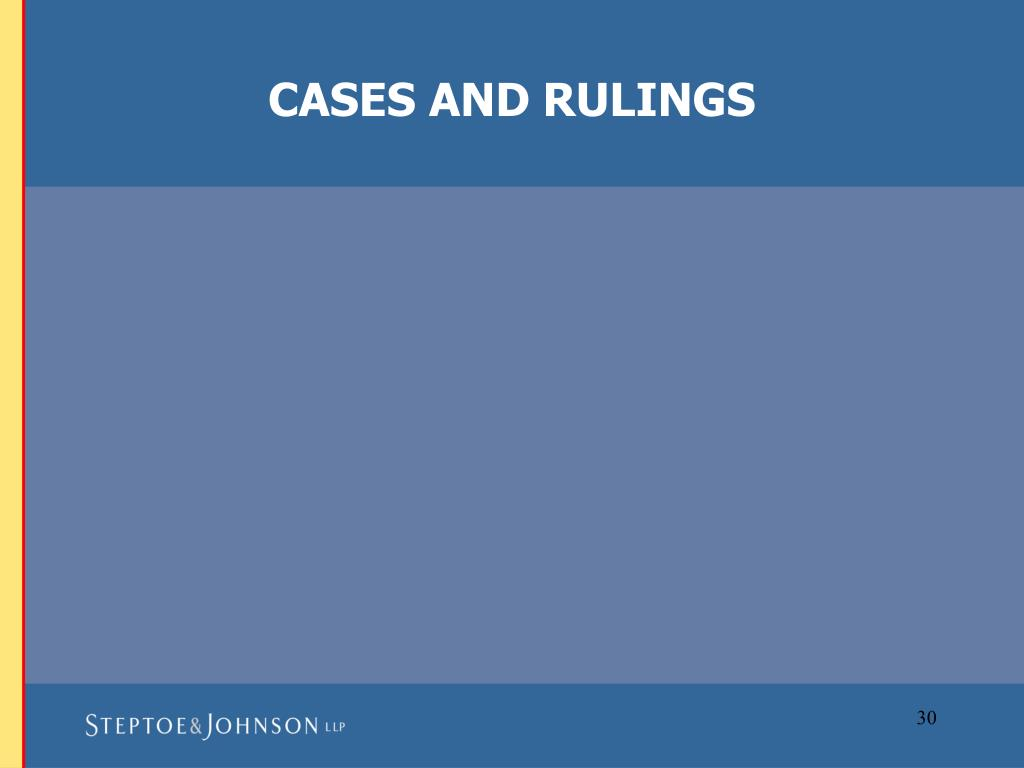 CASES AND RULINGS