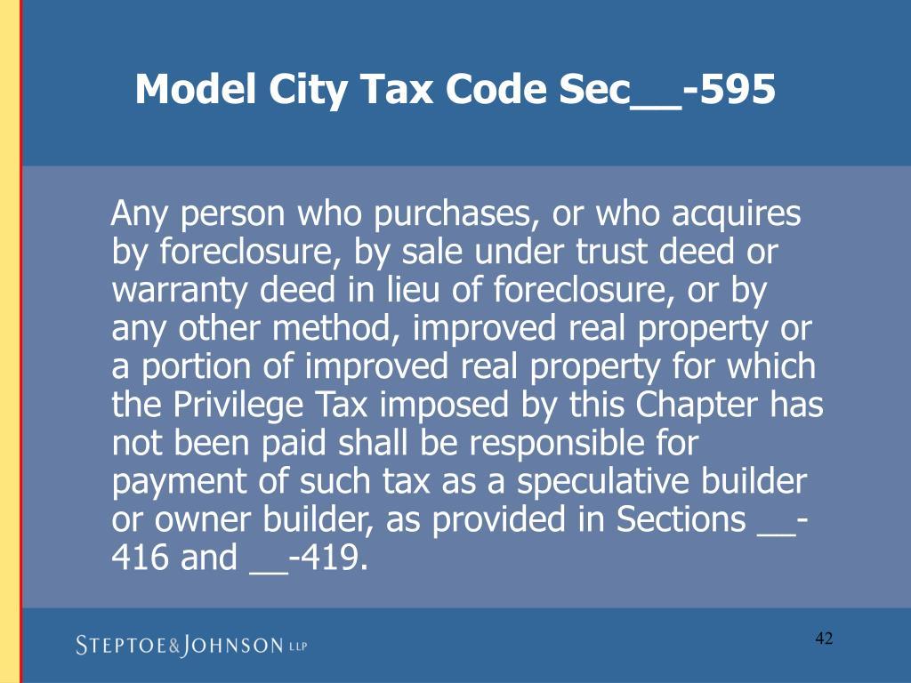 Model City Tax Code Sec__-595