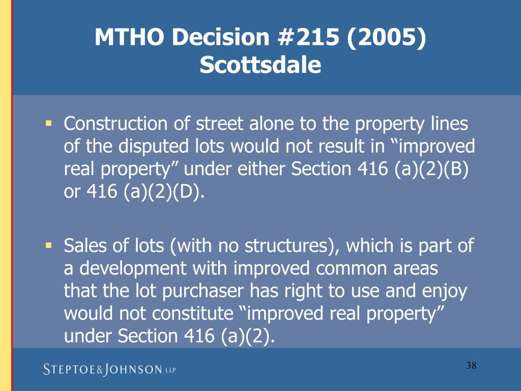 MTHO Decision #215 (2005)