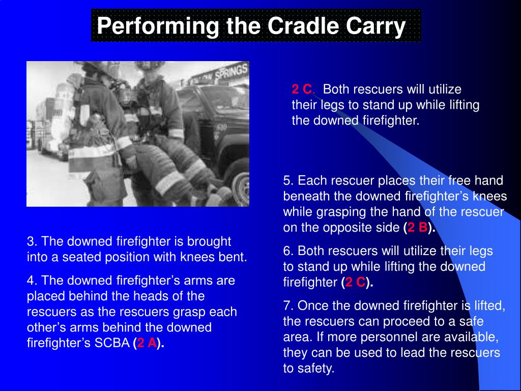 Performing the Cradle Carry