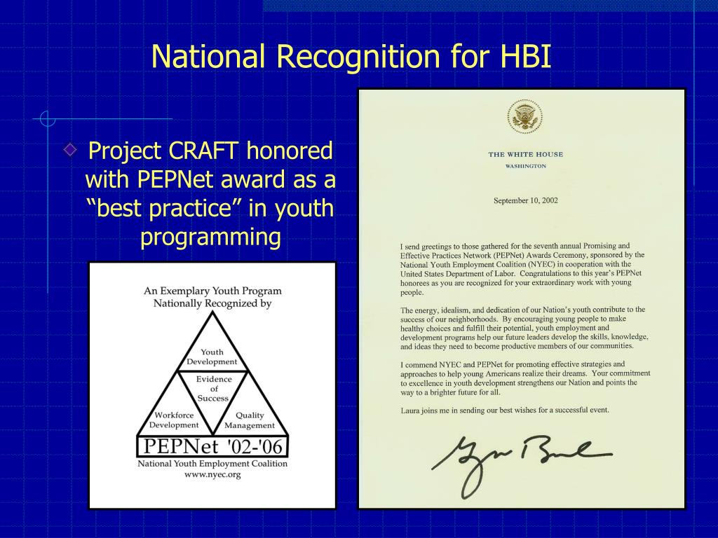 "Project CRAFT honored with PEPNet award as a ""best practice"" in youth programming"