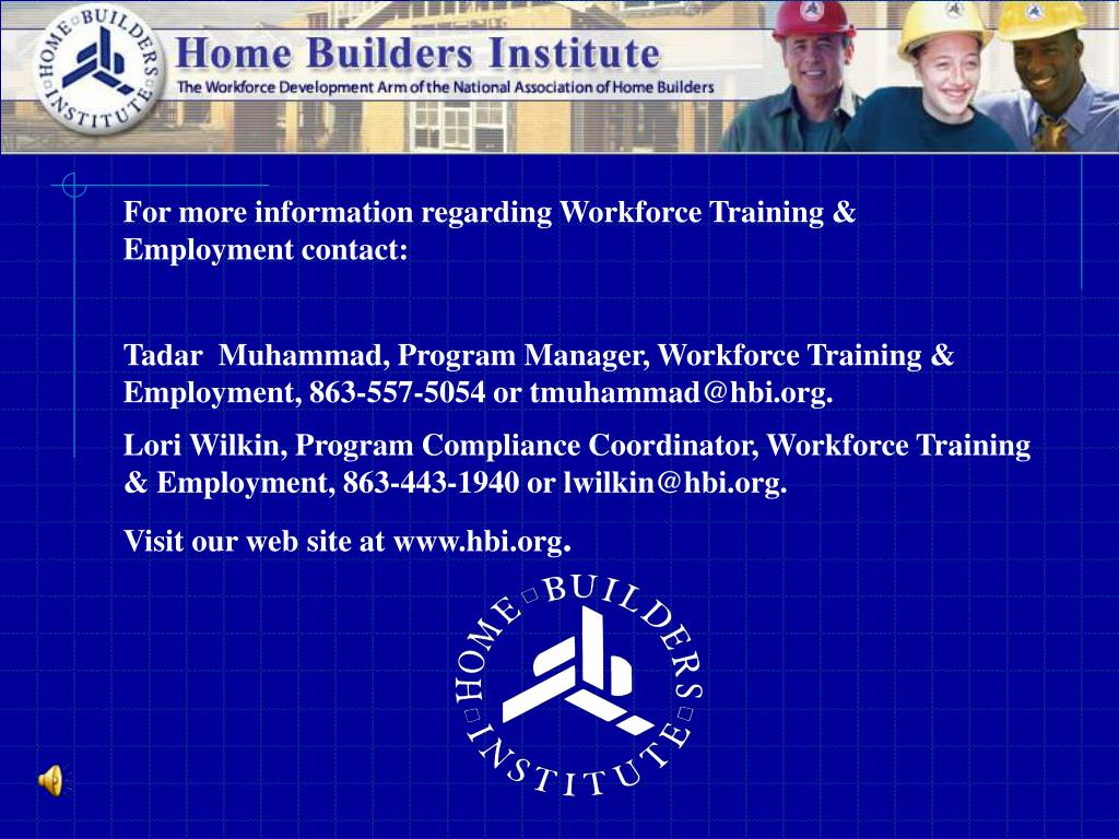 For more information regarding Workforce Training & Employment contact:
