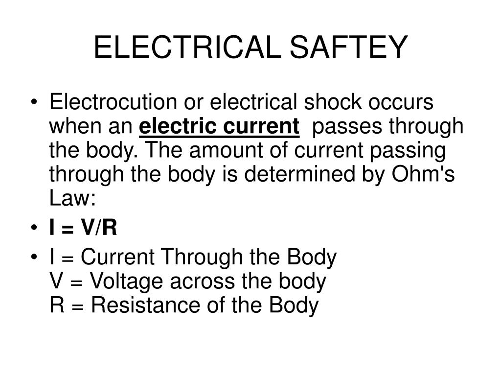 ELECTRICAL SAFTEY