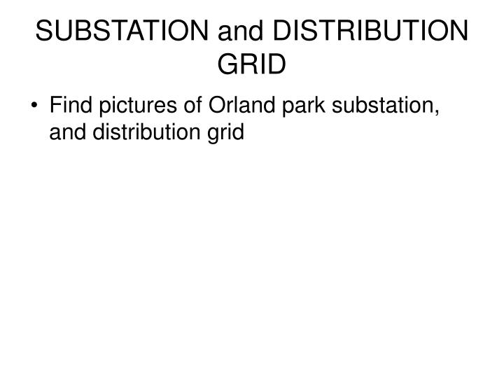 Substation and distribution grid
