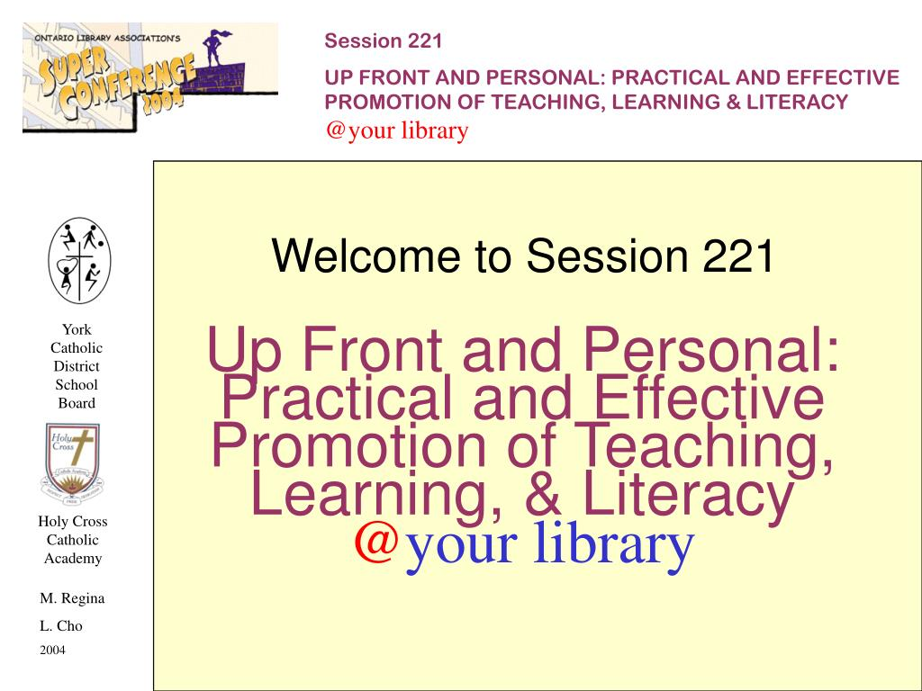 Welcome to Session 221