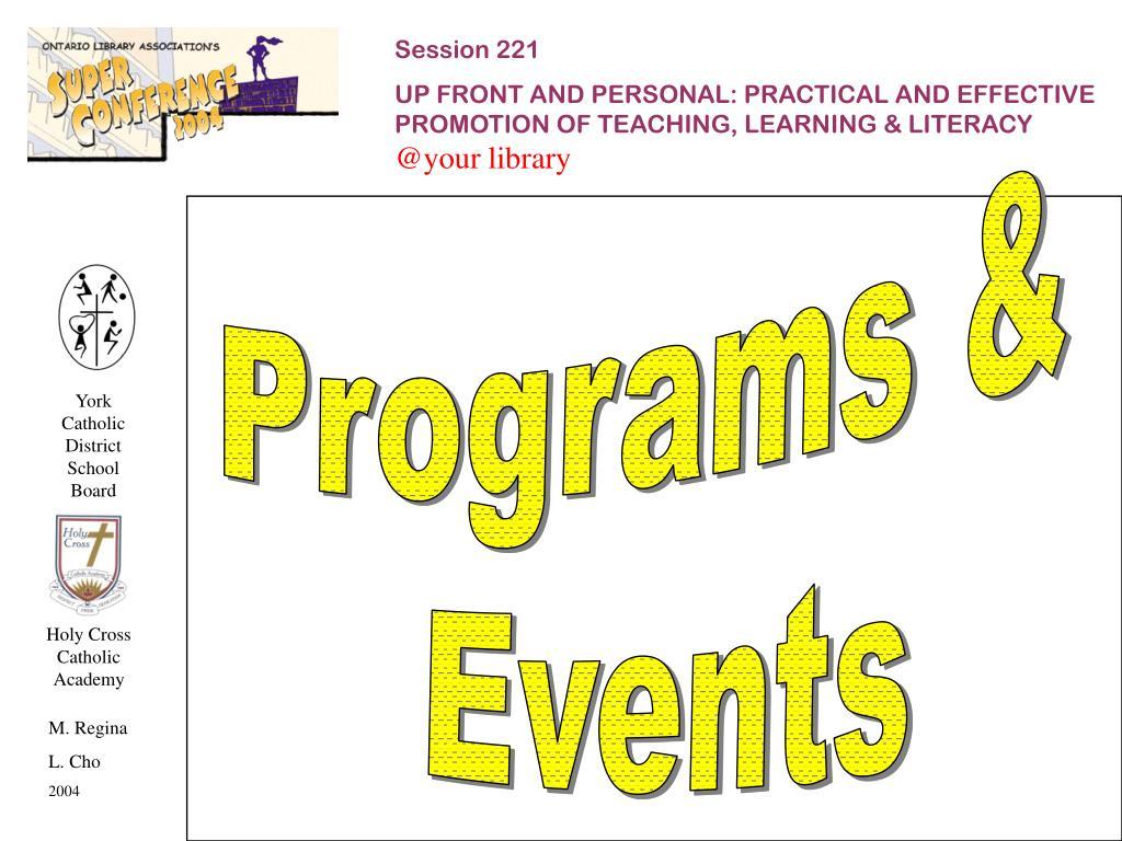 Programs &