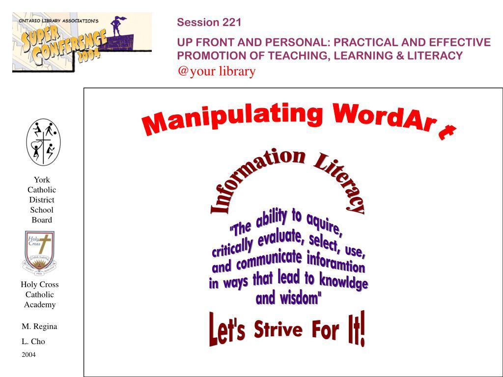 Manipulating WordArt