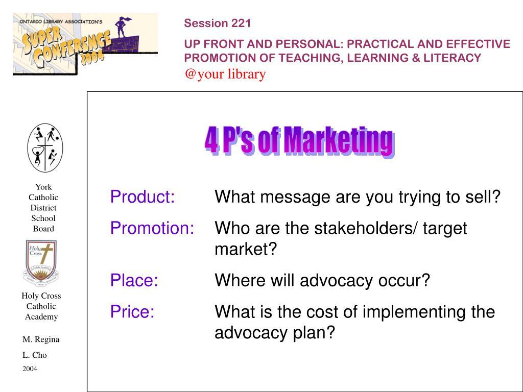 4 P's of Marketing
