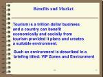 benefits and market